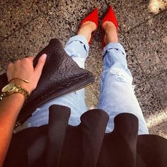 pointy heels & boyfriend jeans- MUST update wardrobe with this combo