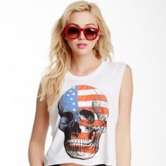 ❤️LOWEST❤️ Wildfox American Dream Chad tank Worn once, like new. NO TRADES. NO OFFERS ON ITEMS MARKED LOWEST PRICE, PLEASE Wildfox Tops Tank Tops