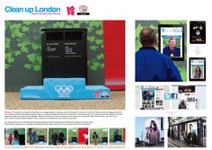 Garbage can ad space: Combining the Olympics and recycling into a social media vehicle. Creative!