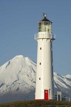 Travel Inspiration for New Zealand - Cape Egmont Lighthouse & Mount Taranaki, North Island, New Zealand