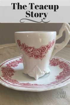 The Teacup Story based on Jeremiah 18: 1-6b about the Potter and the Clay. Inspirational Free Printable parable story. #Scripture #inspirational #teacupstory #poem #candilandblogs #encouragement #printable #teacup