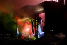 """Paul McCartney plays """"Live and Let Die"""" as fireworks go off on the Land's End stage during the 6th annual Outside Lands Music and Arts Festival in Golden Gate Park in San Francisco, Calif., on Friday, Aug. 9, 2013. (Jane Tyska/Bay Area News Group)"""