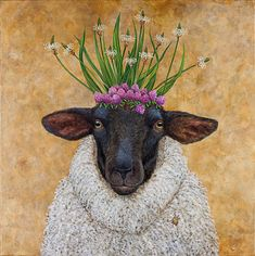 L'Assommoir She wore her finest coat to the party by Vicky Savage cre Animal Art, Artist, Painting, Whimsical Art, Illustration Art, Animal Illustration, Animal Paintings, Sheep Art, Beautiful Art