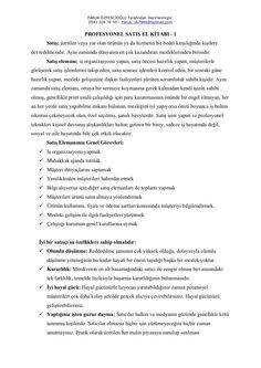 Profesyonel Satış Pazarlama El Kitabı-1 by Satış Pazarlama Uzmanı via slideshare