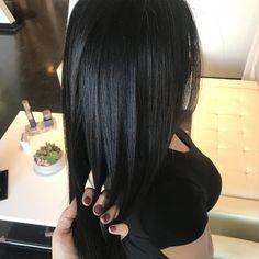 Smoothing treatment on dark hair Dark Hair, Amanda, Hair Beauty, Long Hair Styles, Long Hairstyle, Long Haircuts, Long Hair Cuts, Black Hair, Long Hairstyles