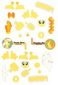 Sunny Daze X Peachie Pie Papercraft by demonreapergirl on DeviantArt
