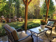 Fire Pit in forested back yard - FOR SALE ~ 1503 Brentwood Place Morganton North Carolina