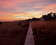 """""""The Sea Wall.""""     Sunset at Pine Point, Maine (shot with my micro 4/3 Olympus Pen E-P3)"""