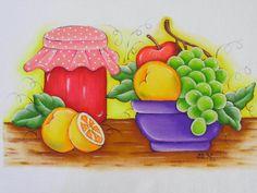 Frutas e geleia, pintura