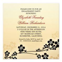 elegant design engagement party invitations