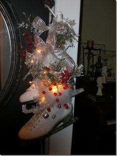 Decorative ice skates
