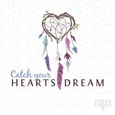heart dream catcher logo by NancyCarterDesign