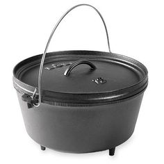 Lodge Logic Deep Dutch Oven - 8 Qt.  Perfect for large groups, say 10.