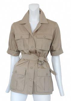 Vintage Yves Saint Laurent Short Sleeve Safari Jacket @ Resurrection Vintage #YSL