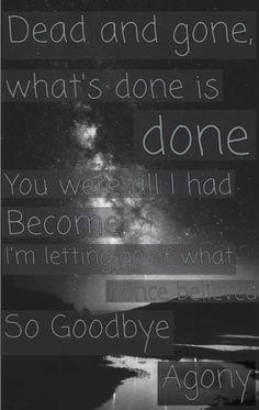 Goodbye agony -BVB