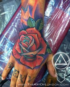 Tattoos - Neo Traditional Rose Tattoo