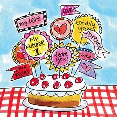 Grote taart met vlaggetjes vol lieve boodschappen #blond #amsterdam