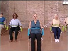 Core Strength Warm Up  Chair Exercise Video, Elderly Exercise (+playlist)