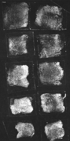 "Fingerprint card belonging to Elizabeth Short AKA ""The Black Dahlia"""