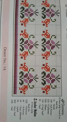 Cross Stitch Borders, Cross Stitch Designs, Beading Patterns, Crochet Patterns, Quilling, Diy And Crafts, Alphabet, Carpet, Embroidery