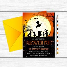 Adult Halloween Invitations, Adult Halloween Party, Scary Halloween, You Are Invited, Paper Goods, Printable, Diy Projects, Orange, Handmade Gifts