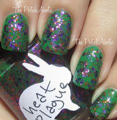 *HARE polish - Heat Plague (Where's Summer, B? Summer 2012) / ThePolishAholic [1 coat over Essie-Pretty Edgy Shown]