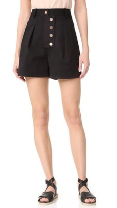 Tibi Shorts with Snaps