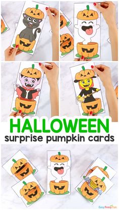 Surprise Pumpkin Halloween Cards – Easy Peasy and Fun Membership Halloween Crafts For Kids To Make, Link Halloween, Halloween Party Decor, Halloween Cards, Holidays Halloween, Crafts To Do, Halloween Pumpkins, Autumn Activities, Activities For Kids