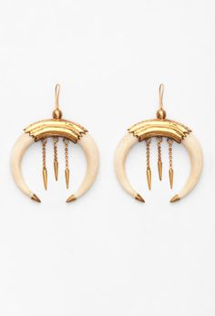 Bone & gold earrings. A Peace Treaty — KAMMARA.