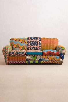Franco Dutch Wax Sofa idea for doing patchwork upholstery to revamp dated furniture