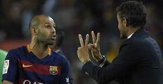 El chantaje de Mascherano a Luis Enrique para continuar - Mi otra liga
