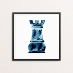 Watercolour - Chess Rook