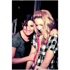achele <3 ❤ liked on Polyvore featuring dianna agron and lea michele