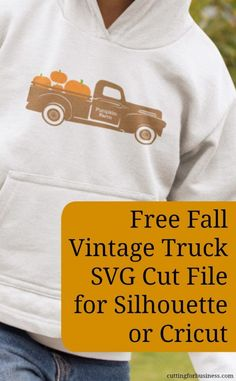 Free Fall Vintage Truck SVG for Silhouette Cameo or Cricut Explore - by cuttingforbusiness.com