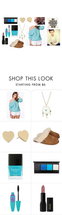 """""""Cozy date with Louis"""" by sarahorantomlinson ❤ liked on Polyvore featuring Charlotte Russe, Kate Spade, UGG Australia, Butter London, Topshop, Maybelline and INIKA"""