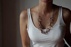 Bubbles form chains  ceramic necklace by LAccentNou on Etsy, $125.00