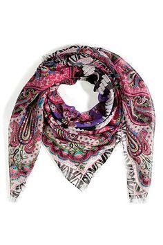Scarlet/Purple Multi Silk Scarf, by ETRO
