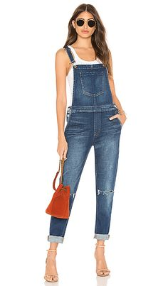 L Agence Harper Denim Overalls Denim In Diamond Deconstruct Jumpsuit Outfit, Casual Jumpsuit, Top Clothing Stores, Blue Overalls, Denim And Diamonds, Cotton Jumpsuit, Blue Jumpsuits, Denim Fabric, Revolve Clothing