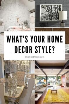 What's your home decor style? Take look at the characteristics of 6 different interior trends to help you choose your home decor style.    #homedecorstyles #decoratingstyles #interiordesignstyles #interiordecorating #interiorstyles Decorating On A Budget, Decorating Blogs, Interior Decorating, Interior Design, Living Room Decor Inspiration, Home Decor Styles, Diy Room Decor, Trends, Outdoor Decor