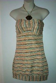Forever 21 Striped Sleeveless-Dress-Size-M $6.99