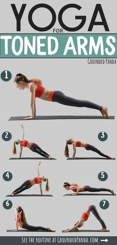 Having flabby arms is the WORSE! Luckily it is possible to reduce the fat around your arms with simple poses found in this yoga routine. Toned arms is the way to go and here is how you get them. #armworkout #yoga #groundedpanda