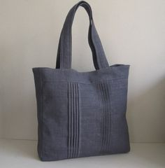Grey Hemp/Cotton Carry-All Tote