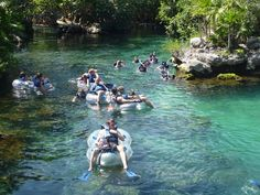 Float through the park, snorkel or just walk around. It's all fun in Xel-Ha, a natural aquarium park where you can go tubing, snorkel, Snuba, Sea Trek, or swim with dolphins is south of Akumal, Cancun, Riveria Maya, Mexico. Incredibly beautiful! Go to http://www.yourtravelvideos.com/view.php?view=121062 or click on photo for video and more on this site.