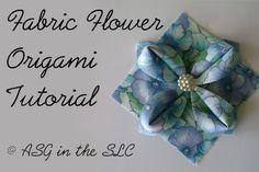 Fabric Flower Origami