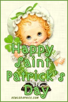 Cute girly happy saint patricks day glitter  Graphic plus many other high quality Graphics for your Facebook profile at KewlGraphics.com.