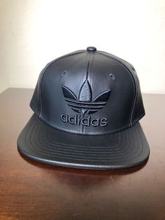 b966ea90dee86 Extra Off Coupon So Cheap Men s Adidas Originals Faux Leather Trefoil  Snapback Cap - One Size fits all