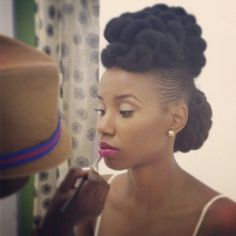 Munaluchi Natural Hair Shoot in Brooklyn. Makeup by Juicy Looks and hair by Khamit Kinks.