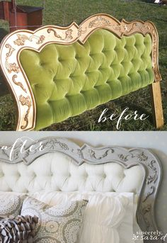 Painted Headboard makeover