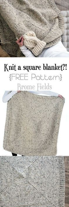 FREE Square Blanket Knitting Pattern
