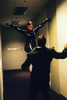 Still Of Carrie Anne Moss And Matt McColm In The Matrix Reloaded